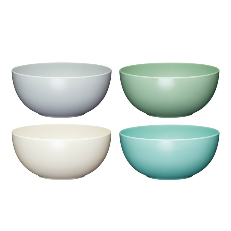 KitchenCraft Colourworks Melamine Bowls 4 Piece - 15cm