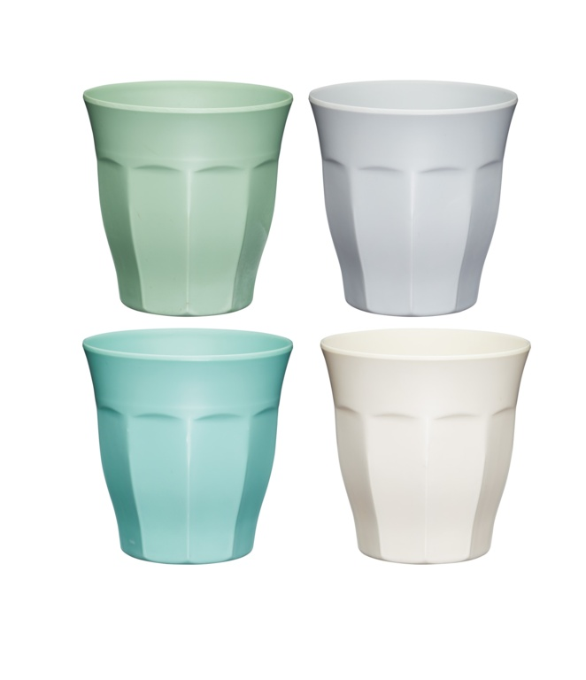 KitchenCraft Colourworks Melamine Tumblers 4 Piece - 225ml