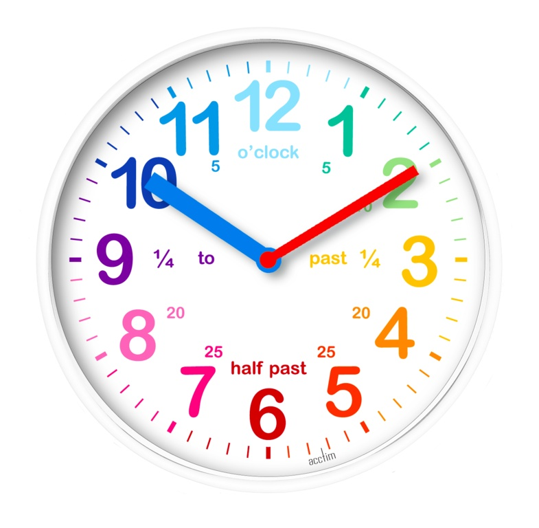 Acctim Wickford Kids Time Teach Clock 20cm - White