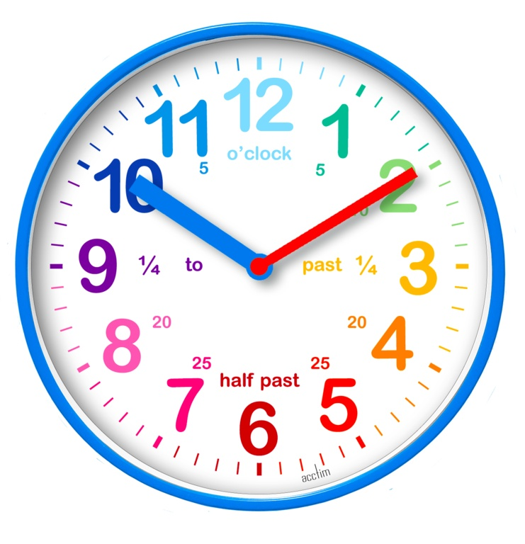 Acctim Wickford Kids Time Teach Clock 20cm - Blue