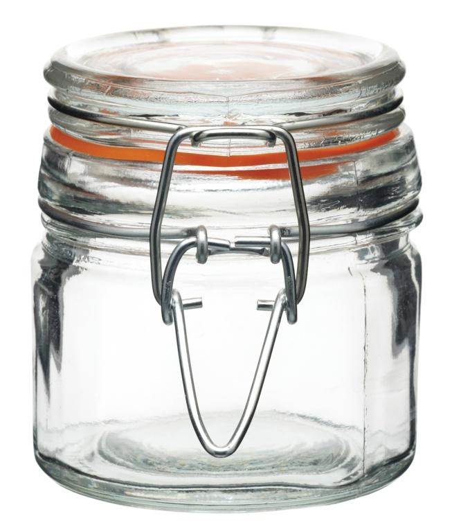 KitchenCraft Mini Round Clip Top Jar - 120ml