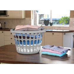TML Round Laundry Basket - Silver