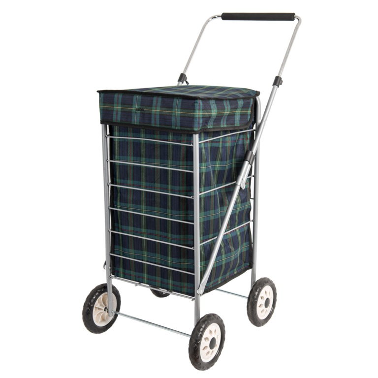 Sabichi Shopping Trolley - Angus Blue & Green Tartan