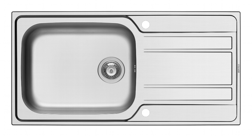 Pyramis Athena Stainless Steel Deep Bowl Inset Sink - 1000 x 500mm