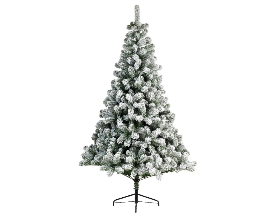 Kaemingk Snowy Imperial Hinged Pine Tree - 210cm