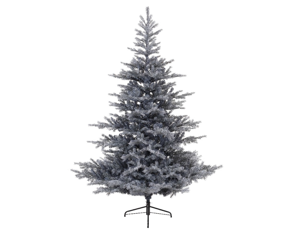 Kaemingk Frosted Grandis Hinged Fir Tree - 210cm