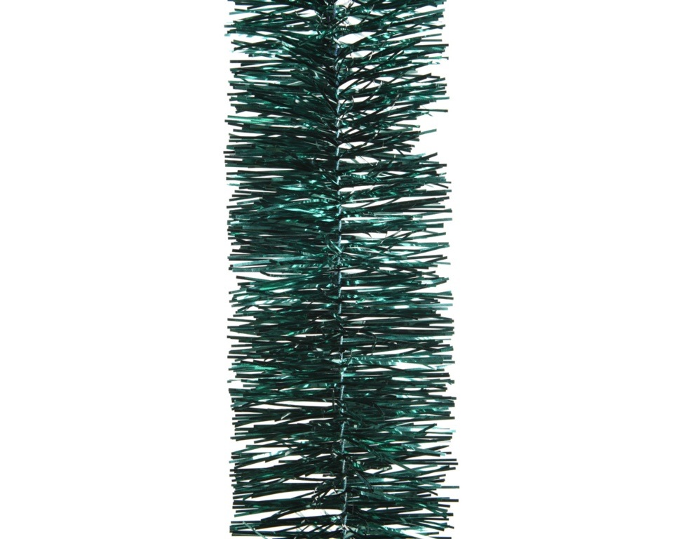 Deco 4 Ply Shiny Tinsel Garland - 270cm Emerald Green