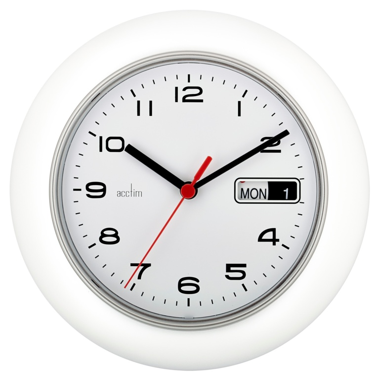 Acctim Date Minder Wall Clock 25cm - White