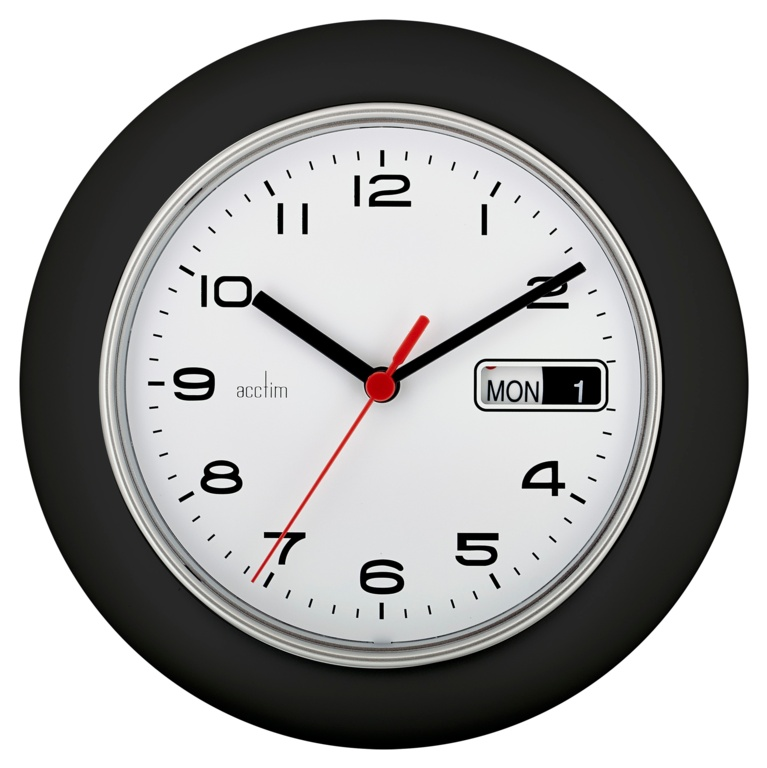 Acctim Date Minder Wall Clock 25cm - Coal