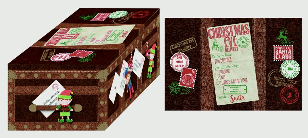 North Pole Christmas Eve Chest With Lid - Set 3