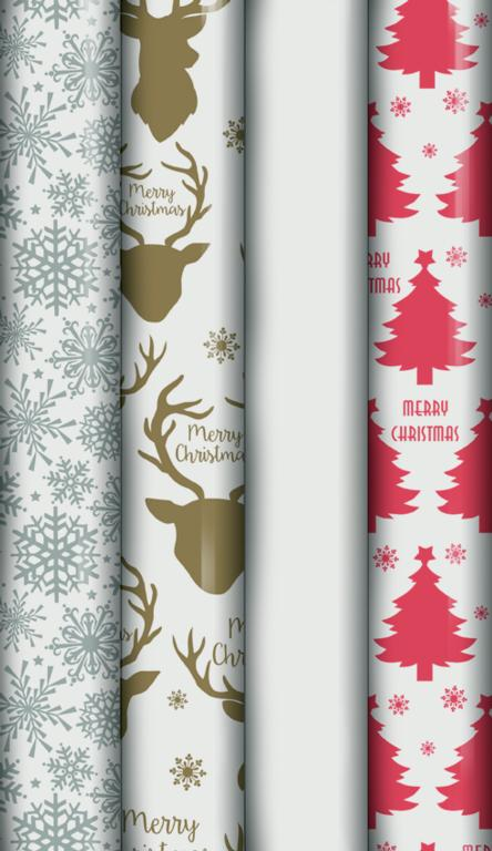 North Pole Cellophane Wrap - 2m