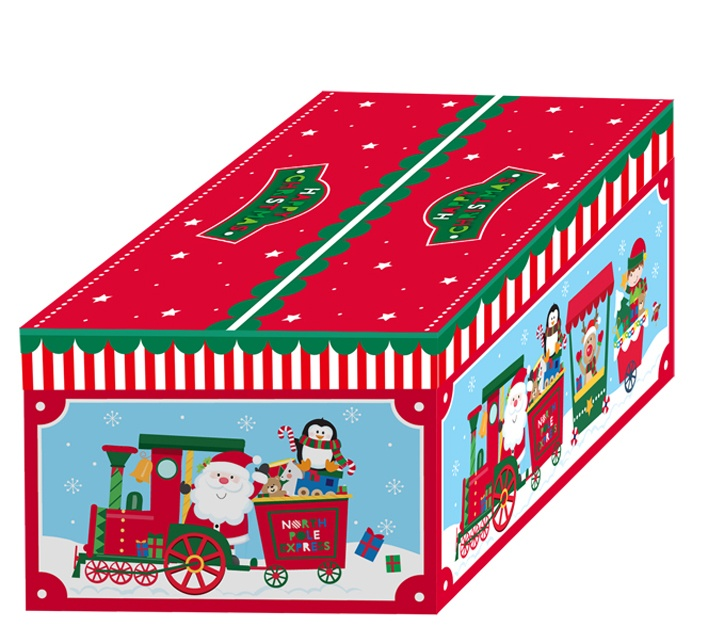 North Pole Chest With Lid Set Of 3 - Santa Train