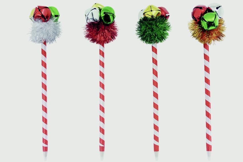 North Pole Christmas Bell Pen - Assorted Designs Available