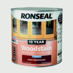 Ronseal 10 Year Woodstain Satin 250ml Deep Mahogany
