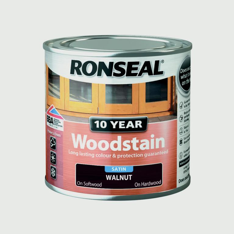 Ronseal 10 Year Woodstain Satin 250ml - Walnut