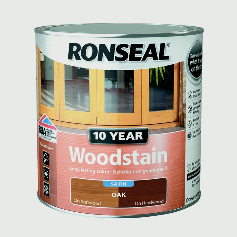 Ronseal 10 Year Woodstain Satin 750ml - Oak