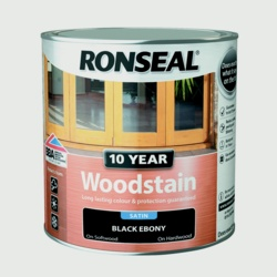 Ronseal 10 Year Woodstain Satin 750ml Ebony
