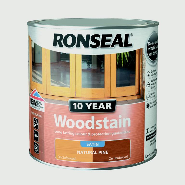 Ronseal 10 Year Woodstain Satin 750ml - Natural Pine