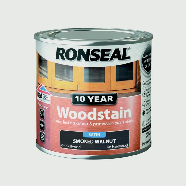 Ronseal 10 Year Woodstain Satin 250ml - Smoked Walnut