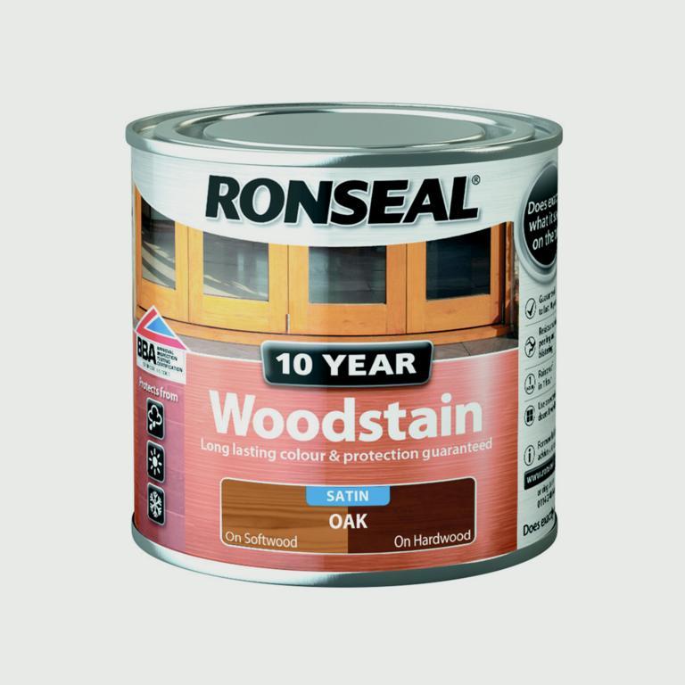 Ronseal 10 Year Woodstain Satin 250ml - Oak