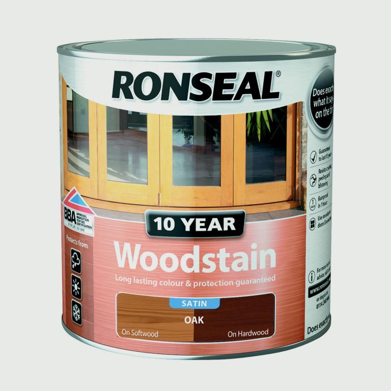 Ronseal 10 Year Woodstain Satin 2.5L - Oak