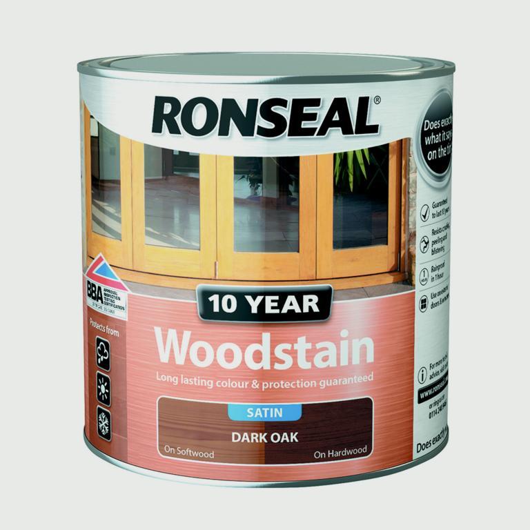 Ronseal 10 Year Woodstain Satin 250ml - Dark Oak