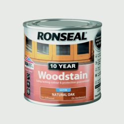 Ronseal 10 Year Woodstain Satin 250ml Natural Oak