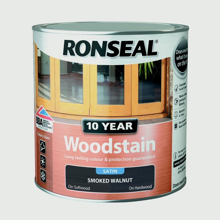 Ronseal 10 Year Woodstain Satin 2.5L - Smoked Walnut