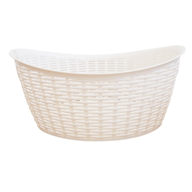 Anika Home 27L Rattan Washing Basket - Cream