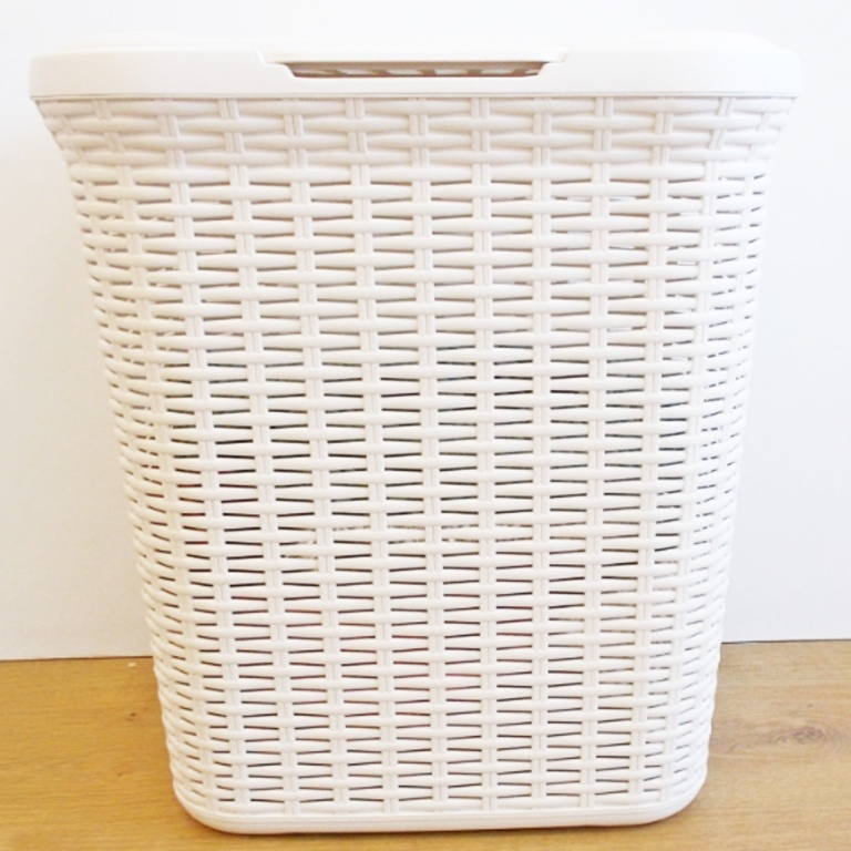 Anika Home 50L Rattan Laundry Basket - Cream