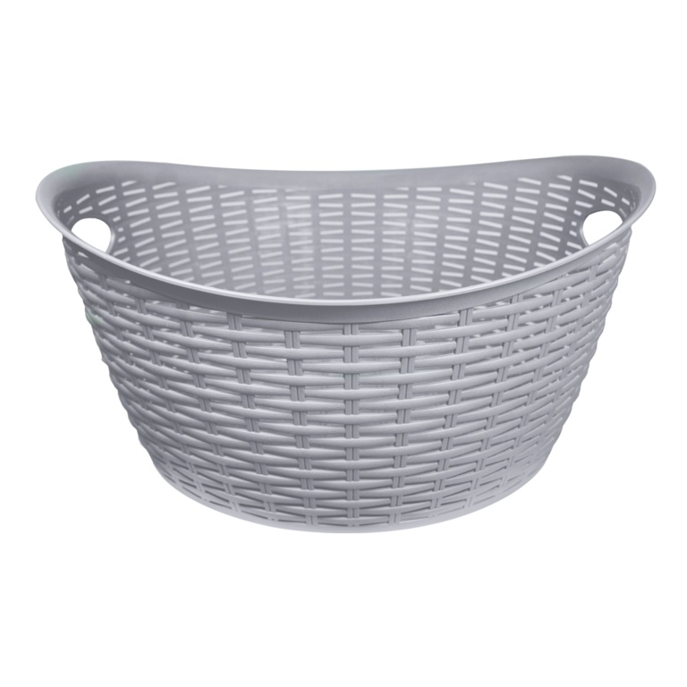 Anika Home 27L Rattan Washing Basket - Grey