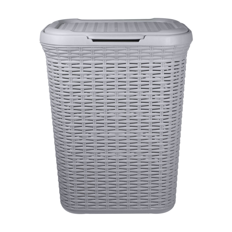 Anika Home 50L Rattan Laundry Basket - Grey
