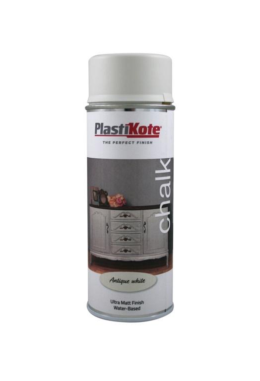 PlastiKote Chalk Spray Paint 400ml - Antique White