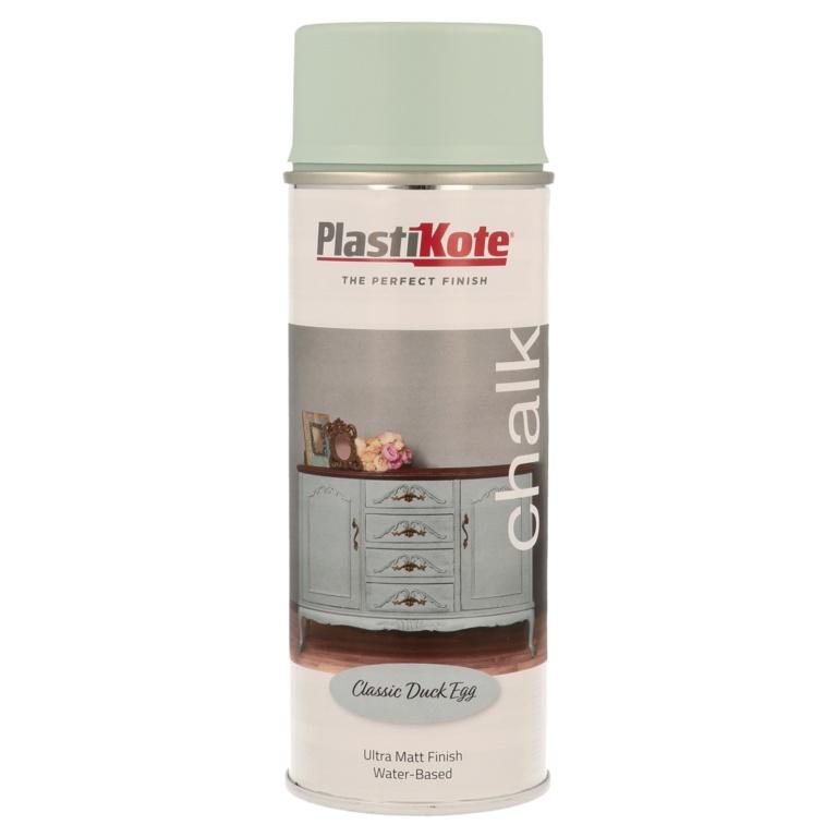 PlastiKote Chalk Spray Paint 400ml - Classic Duck Egg