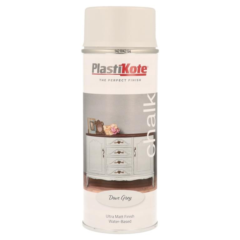 PlastiKote Chalk Spray Paint 400ml - Dove Grey
