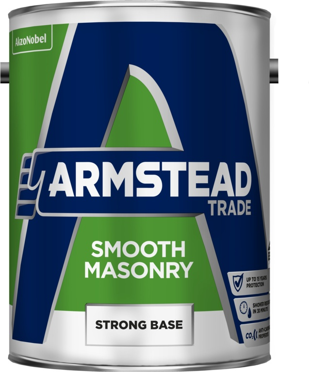 Armstead Trade Smooth Masonry Paint 5L - Strong Base