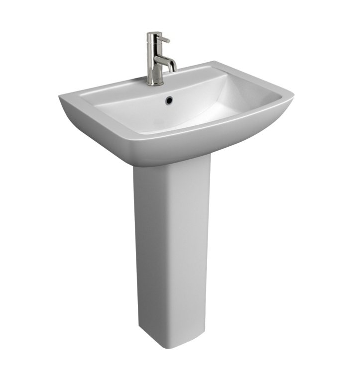 Kvit Pure 1 Tap Hole Basin - 550mm