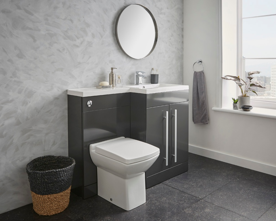 Kvit Matrix WC Unit Gloss Grey - 500mm