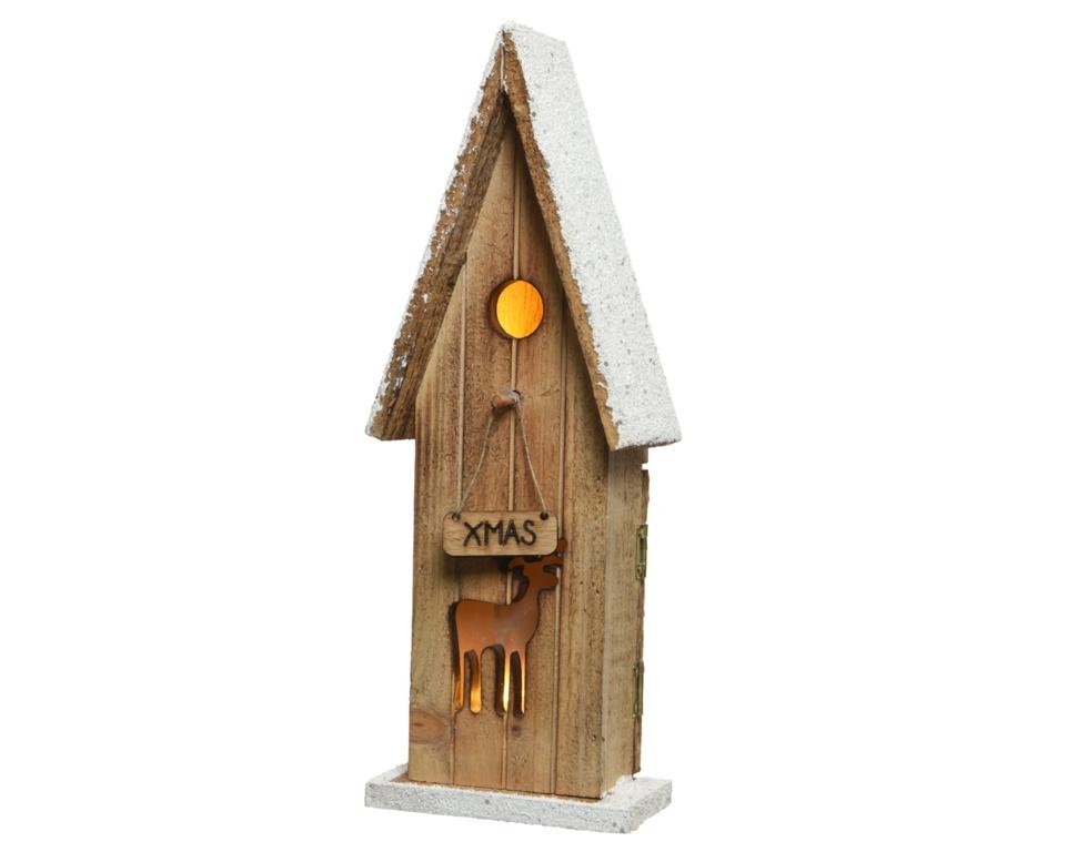 Kaemingk LED Wooden Bird House - Warm White