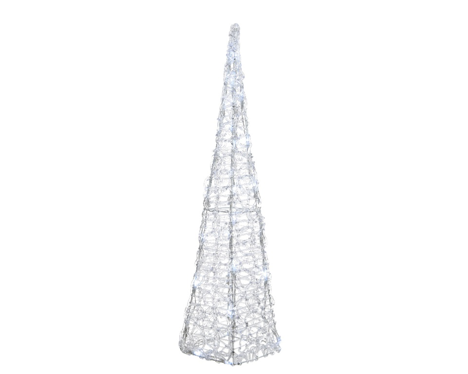 Kaemingk LED Acrylic Pyramid - 50 LEDs Cool White