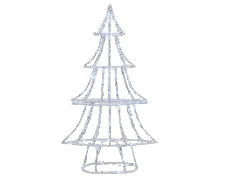 Kaemingk LED Acrylic Frame Tree - 110 LEDs Cool White