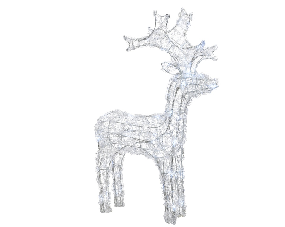 Kaemingk LED Acrylic Reindeer - 90cm Cool White