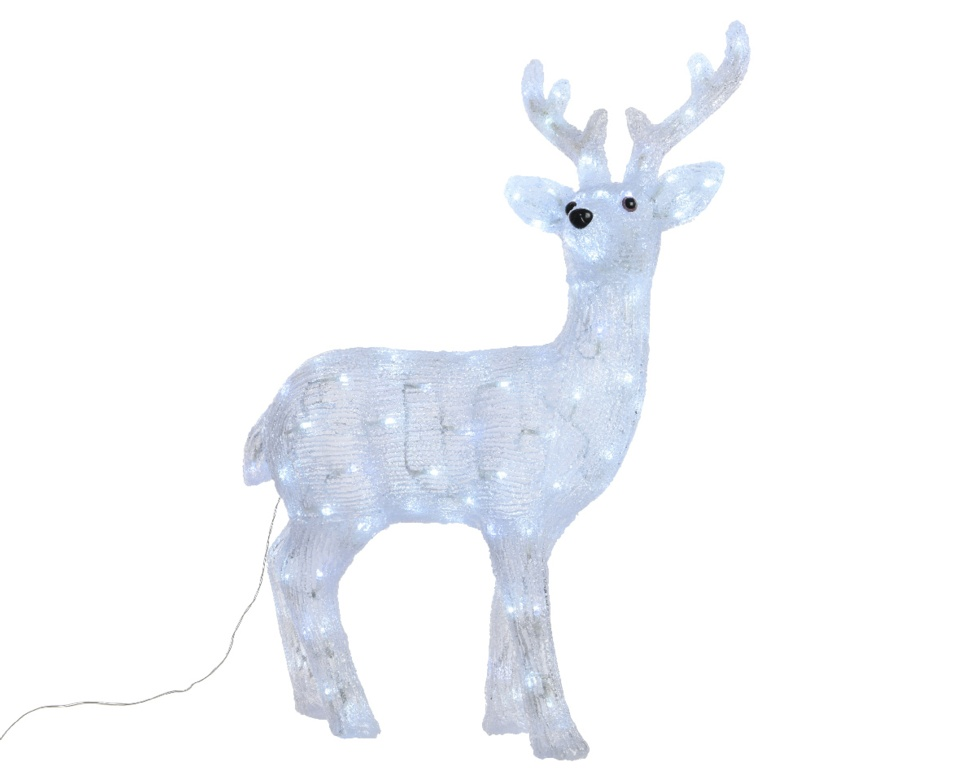 Kaemingk LED Acrylic Deer - 120 LEDs Cool White
