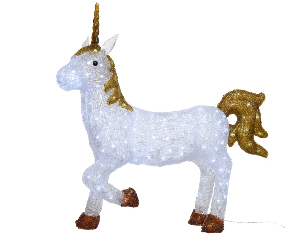 Kaemingk LED Acrylic Unicorn - 200 LEDs Cool White