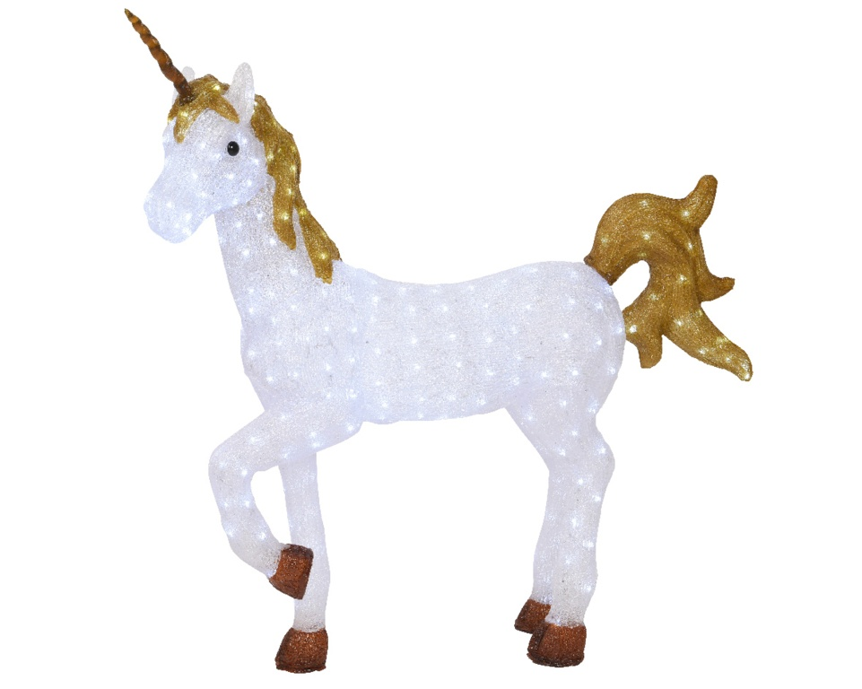 Kaemingk LED Acrylic Unicorn - 300 LEDs Cool White