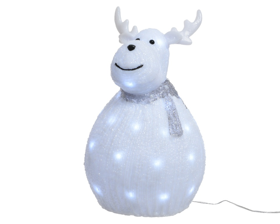 Kaemingk LED Acrylic Deer - 40 LEDs Cool White