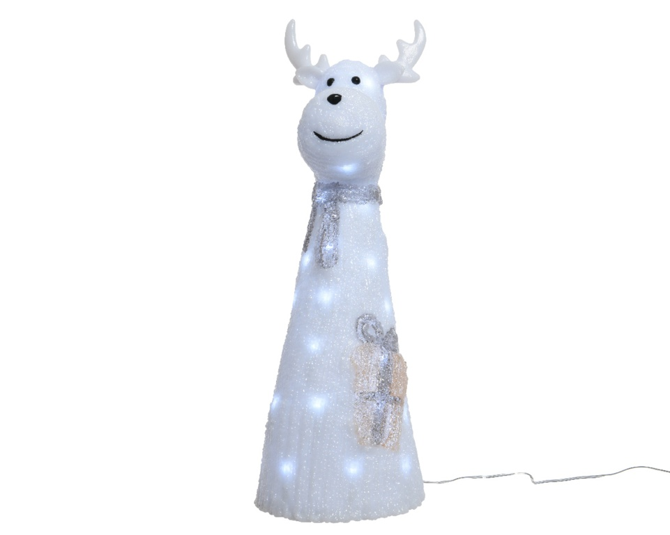 Kaemingk LED Acrylic Deer 51cm - 40 LEDs Cool White