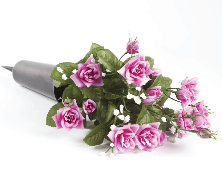 Smithers Oasis Grave Vase Spike - Black/Pink/White