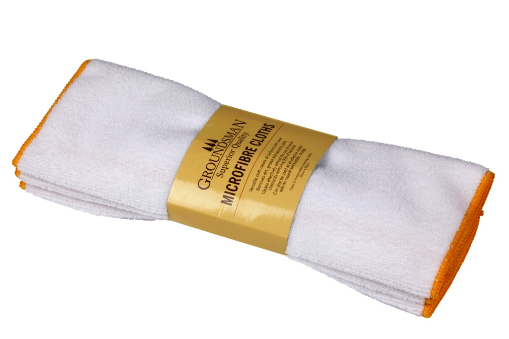 Groundsman Micro Fibre Cleaning Cloth - 35 x 35cm Pack 4