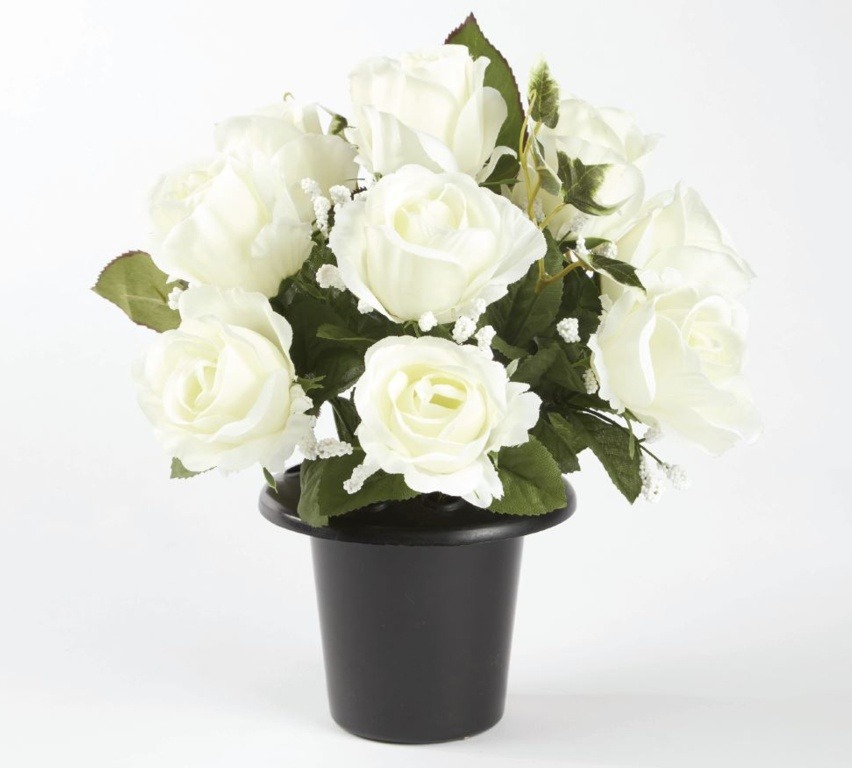 Smithers Oasis Grave Vase Container - Black/White